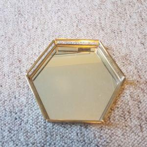 Vanity hexagon mirror